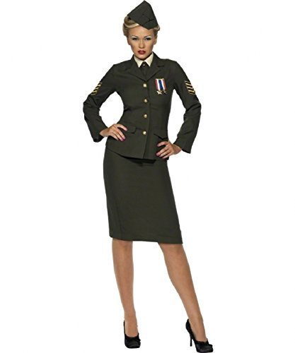(Female 1940's Wartime Fancy Dress US Army Officer Costume UK Dress 12-14 by Fancy Dress To Impress)
