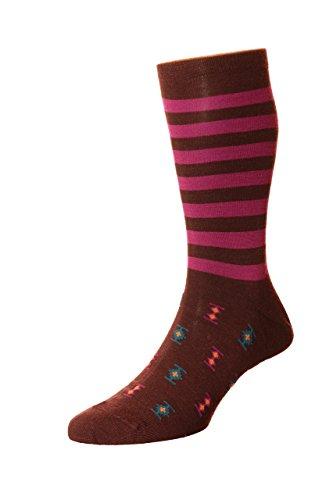Richard James luxury socks -  Calze  - Uomo Maroon, Multicoloured M: UK 7,5-9,5, EU 42-44, US 8,5-11, M