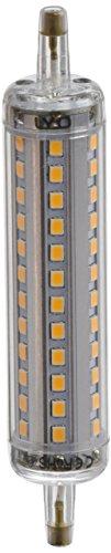 LYO Bombilla Lineal LED con Luz Cálida, R7s, 10 watts, Gris y Blanco, 2.2 x 2.2 x 11.8 cm