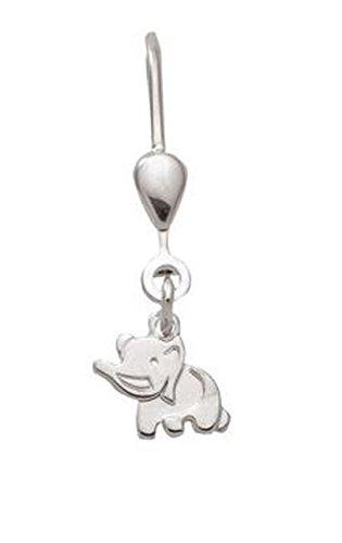Pendientes de plata de ley 925 Elefant