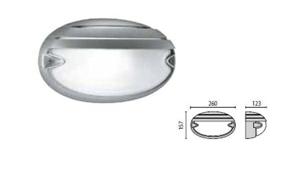 Plafoniere Da Palo : Prisma performance 5731 plafoniera chip ovale 25 grill: amazon.de