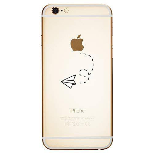 ChoosEU Kompatibel mit Hülle iPhone 6S / 6 (4.7 inch) Silikon Muster Transparent Handyhülle für Mädchen Frau Mann, Dünn Silikonhülle Durchsichtig Stoßfest Case Schutzhülle - Flugzeug