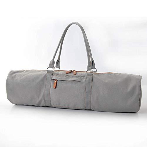 Acuuhasks Yogatasche Multifunktionale Aufbewahrung wie Yogamatte Yoga Roller Handtuch Geldbörse Handy Gym Bag,Gray (Gym Bag Roller)