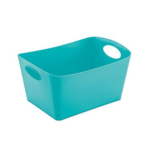 koziol Aufbewahrungsbox 3,5 L Boxxx M,  Kunststoff, solid türkis, 20,3 x 29,7 x 15 cm