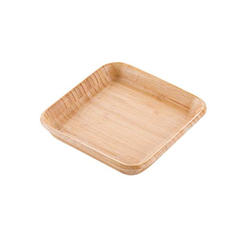 MFHYSJ Bamboo Tray Thickened Plate Durable Creative Party Snacks Rectangular Appetizer Tray Service Tray, Trumpet Bamboo Appetizer Tray