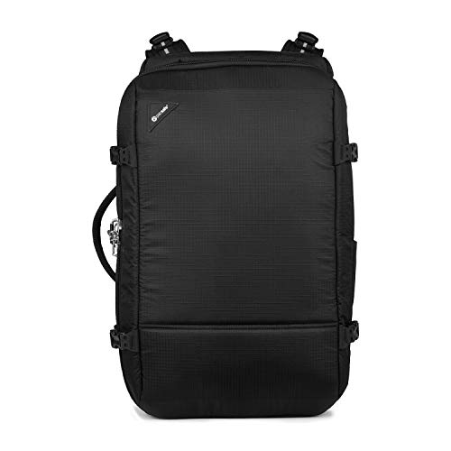 Pacsafe Vibe 40 - Anti-Diebstahl Rucksack, Diebstahlschutz Reiserucksack, Handgepäck 40 Liter, Schwarz/Jet Black