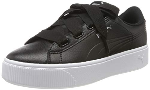 Puma Damen Vikky Stacked Ribbon Core Sneaker, Schwarz Black 01, 37 EU