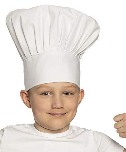 Boland 01405 Kinderkochmütze Chef Deluxe, Weiß (Deluxe Chef Hut)