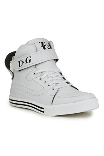 APPE Men's White High-Top Shoes - 7 UK