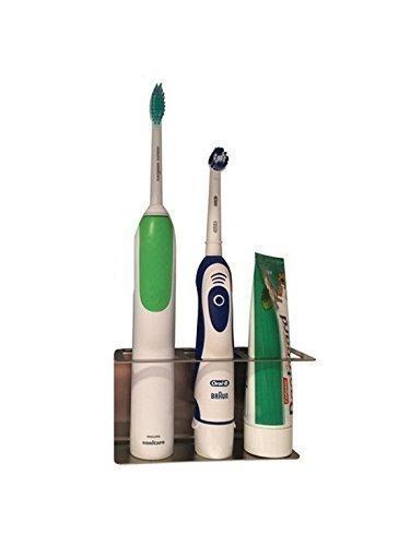 Zahnbürstenhalter aus Edelstahl, Halter für elektrische Zahnbürsten 3 Plätze (Zahnbürste Platz)