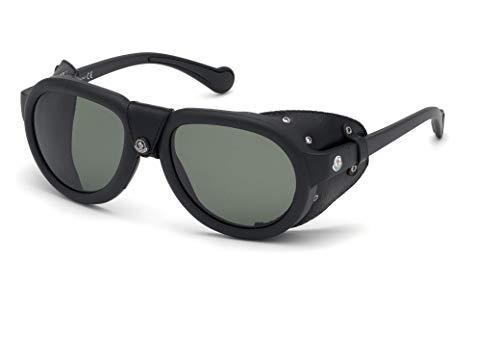 Moncler Sonnenbrillen ML0090 Matte Black/Green Unisex