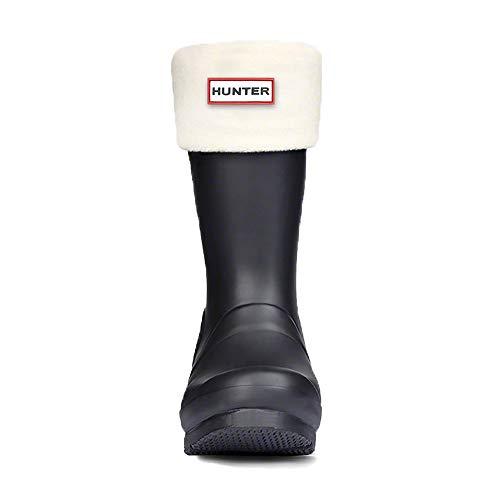 Hunter Kids Fleece Boot Socks (Welly Socks) Cream X Large