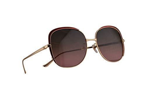 Gucci GG0400S Sonnenbrille Gold Mit Mehrfarbigen Verspiegelten Gläsern 58mm 003 GG0400/S 0400/S GG 0400S