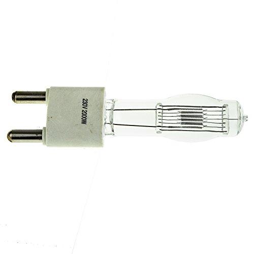 2000W Wolframbirne für Fresnel-Licht. Kontinuierliche professionelle Beleuchtung für Video. GY38 Beschlag Arri Studio