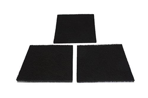 LTWHOME Quadratische Kohlenstoff Filter Pads passend für Danner 12202 Pondmaster PM 1000 und PM 2000 (Packung mit 3) -