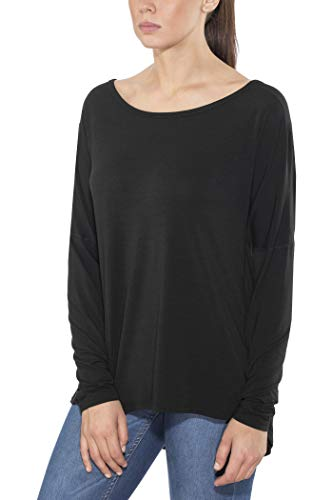 5130e25eaeb8 Black Diamond Gym - T-Shirt Manches Longues Femme - Gris 2018 t Shirt  Manches