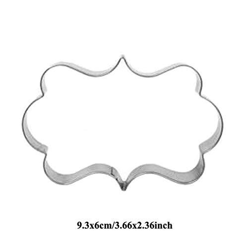 Biskuit-rahmen (FIOLTY 1p Patisserie reposteria Brautkleider Liebes-Edelstahl-Plätzchen s Zucker Fondant-Kuchen-Dekor-Werkzeug-Kuchen-Biskuit: 1x Rahmen)