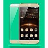 """Funnytech_ - Cristal templado para Huawei G8 color Dorado """"Pantalla completa"""" (Cubre el borde biselado). Vidrio templado antigolpes (Grosor 0,3mm) – Kit de instalación incluido"""
