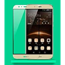 """Protector de pantalla Cristal templado para Huawei G8 """"Pantalla Completa"""" Color ORO (Cubre completamente la la pantalla del móvil) Calidad HD, Grosor 0,3mm, Bordes redondeados 2,5D, alta resistencia a golpes 9H. No deja burbujas en la colocación (Incluye instrucciones y soporte en Español)"""