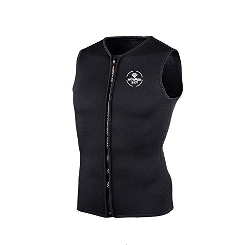 Gresonic 3MM Neopren Weste Tauchen Unterzieher Tauchweste Jacke Wärmeschutz unter Tauchanzug Badeweste für Wassersport -XXL