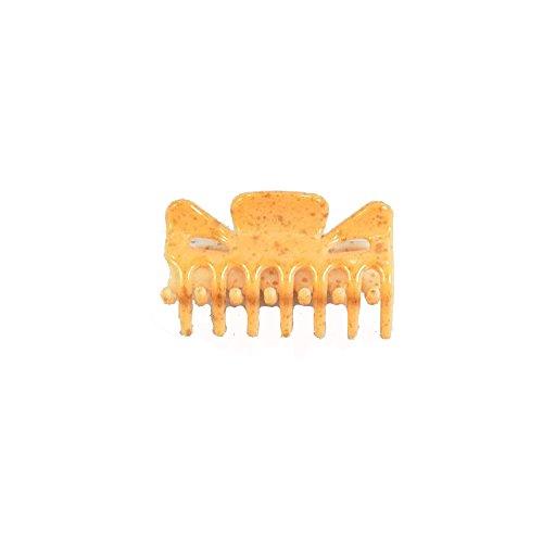 Pince Crabe A Cheveux - Plastique 6 cm - Orange Moucheté - Accessoire Coiffure