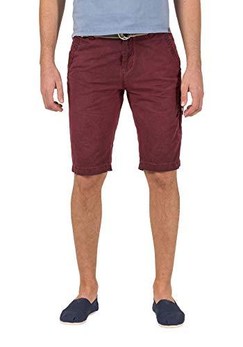 Timezone Herren Comfort CliffTZ incl. Belt Shorts, Rot (Washed Wine red 5058), W33