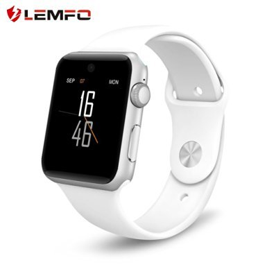 Lemfo LF07 Bluetooth SmartWatch apoyo tarjeta SIM Wearable dispositivos fitness Tracker para IOS Android Smartphone