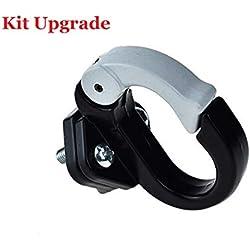 aibiku Kit de Montaje de Ganchos de Metal Adecuado para Xiaomi Scooter Eléctrico, Accesorios de Bicicleta (Negro)
