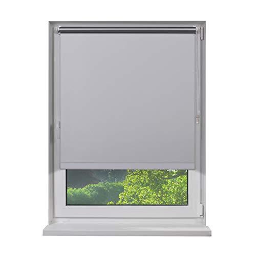 Fensterdecor Klemmfix Mini Verdunkelungsrollo ohne Bohren inkl. Klemmträger/Weiß 80 x 160 cm (BxH)