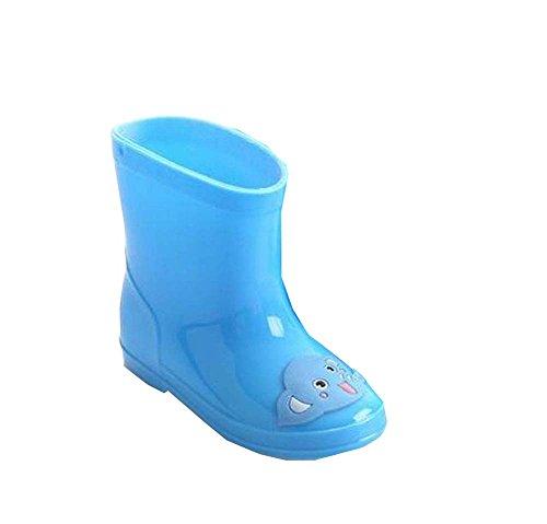 Bleu pour enfants Chaussures de pluie pour les filles et garçons utiles Rainy Da