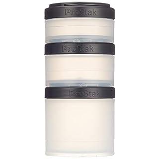 BlenderBottle ProStak Expansion Pak 3 Container (250ml, 150ml und 100ml) inklusive Pillenfach (Transp. Schwarz)