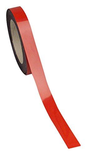 Swiftpak 7264 chiusura magnetica, facile da pulire, striscia scaffali, 30 mm x 10 m, colore: rosso