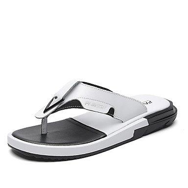 Uomo Slippers & Estate Luce Suole PU Casual Sandali Nero Bianco sandali US6-6.5 / EU38 / UK5-5.5 / CN38