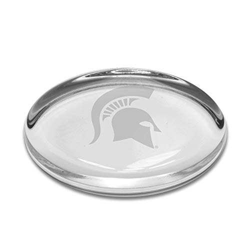 A Michigan State Spartans Oval Paperweight, Clear, One Size ()