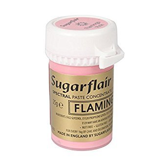 Sugarflair 25g Flamingo Pink Spectral Paste Gel Edible Food Colour Cake Icing