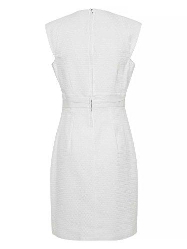 APART Femmes Robe d'affaire 100 % coton Blanc