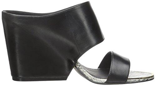 Calvin Klein Cali Femmes Cuir Sandales Black