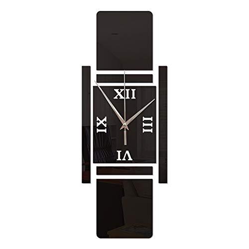 /Wanduhren DIY Stumm Wanduhr Kreative Nussknacker Soldat Wandaufkleber Uhr Bekleidungsgeschäft Coffee Shop Dekoration Geschenke (ohne Batterie) Wall Clock (Farbe : Schwarz) ()