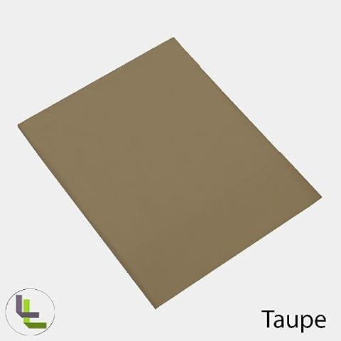 1000TC 100% algodón egipcio elegante acabado 1 pieza sólida hoja plana, algodón, Taupe Solid, UK_Single