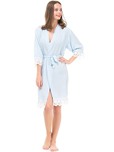 Mr&Mrs Right - Peignoir - Femme Bleu clair