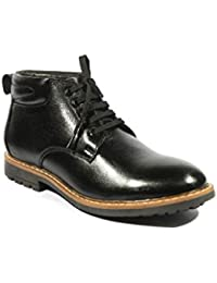 ICEBULL LEATHER Ice Bull Leather Shoes(Boots) With Black Color- For Men's (JEC029) With Size(6-10)