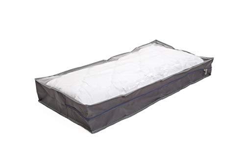 Malin-System - Unterbettkommode 2er-Set - für Bettdecken Kopfkissen Kleidung - Staubdichte Unterbetttasche (100x50x15cm) -