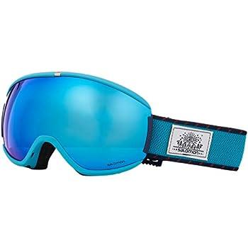 Salomon Damen iVY Skibrille, für sonniges Wetter, blaue Multilayer Scheibe (auswechselbar), Custom ID Passform, Airflow System, blau (Wisteria),