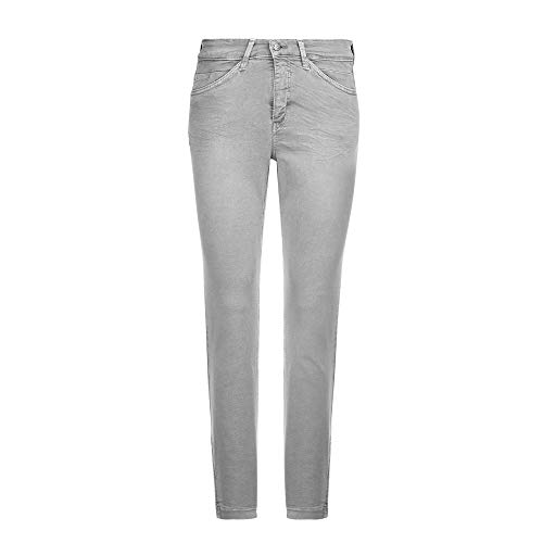 MAC Jeans Damen Dream CHIC Straight Jeans, Grau (Silver Grey Used D310), 44W / 27L