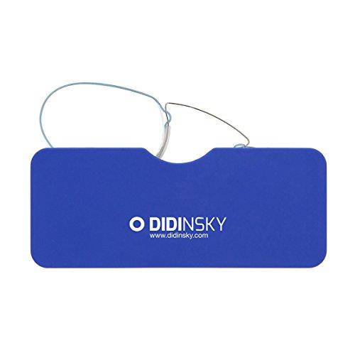 DIDINSKY Lesebrille für damen und herren transparent. Kompakte leichte randlose brillen. Brillengestelle für damen und herren. Lesehilfe Retro. 4 Farben und 5 Abstufungen - LOUVRE