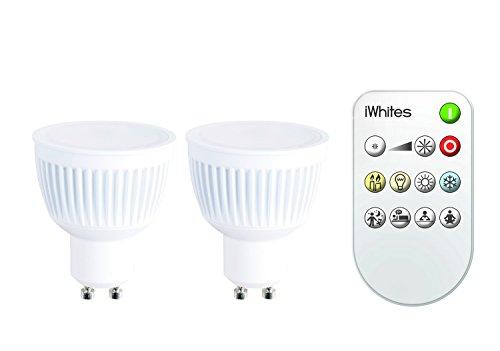 Jedi lighting LED GU10 iWhites 2-er Pack und Fernbedienung 5420060411502