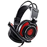 Signo Surround Son stéréo USB Gaming Headset Micro Ordinateur, Isolant du Bruit à...