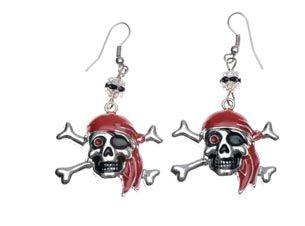 Ohrringe Pirat (Piraten Schmuck Kostüm)