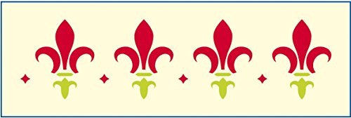 mako Bordüren-Schablone; Motiv: Lilie; Größe: ca. 12 x 36 cm; gestanzte Folie
