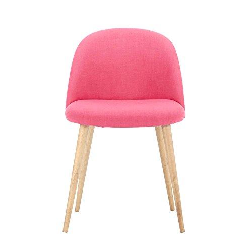 G-Y Faules Sofa, Nordischer Moderner Einzelner Sofa-Stuhl, Beiläufiger Büro-Stuhl (Farbe : Rose red)